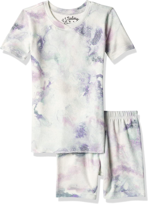 PJ Salvage Kids Kids' Low price Sleepwear Short Peac and Top Bottom Sleeve Luxury goods