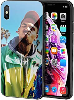 LBIAO 9H Tempered Glass iPhone 7 Plus/8 Plus Cases, LB-175 Chris Brown Design Printing Shockproof Anti-Scratch Soft Silicone TPU Cover Phone Case for Apple iPhone 7 Plus/8 Plus