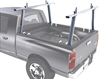 AA-Racks Model APX25 Extendable Aluminum Pick-Up Truck Ladder Rack (No drilling required) - Silver