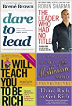 Dare to Lead, The Leader Who Had No Title, I Will Teach You To Be Rich, Secrets of the Millionaire Mind 4 Books Collection Set