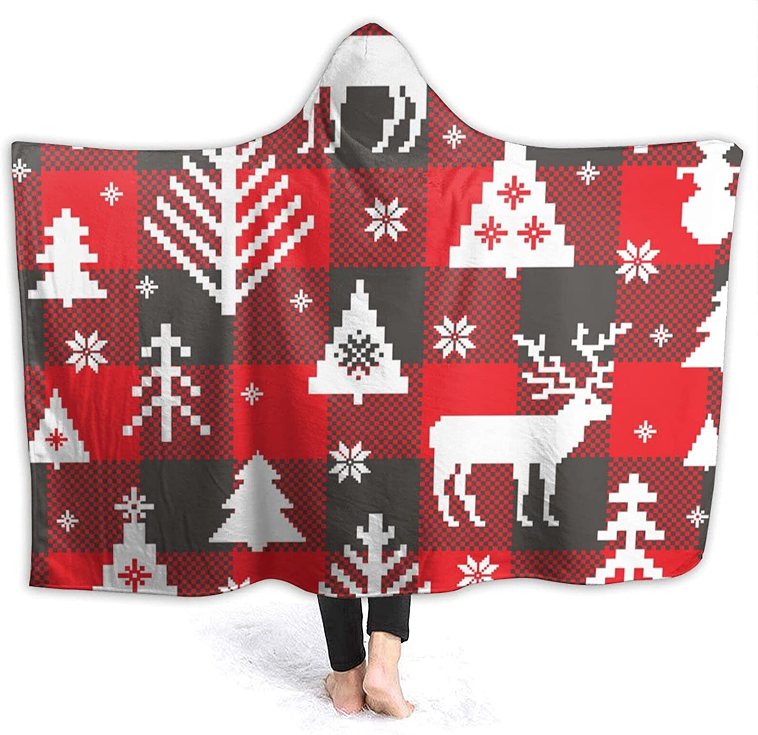 Hooded Blanket Reindeer and Christmas B Suitable for Tree Lowest price challenge Sofas Regular store