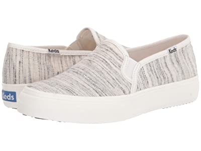 Keds Double Decker Faded Slub Stripe (Cream/Black) Women