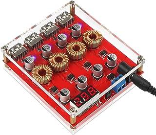 DROK Buck Converter Voltage Regulator DC 9V 12V 24V to DC 5V Power Supply Transformer Charge Adapter Module 4 USB Port Sup...