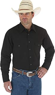 Wrangler Men's Sport Western Basic Two Pocket Long Sleeve Snap Shirt