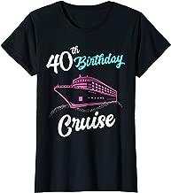 Womens 40th Birthday Cruise Shirt Girl Trip Group Matching Vacation
