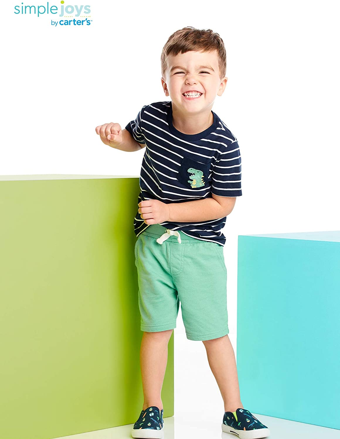 Shorts Simple Joys by Carters Boys 3-Piece Button Up and Tee Playwear Set