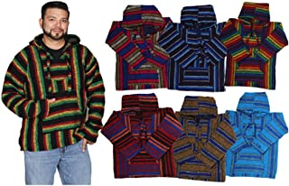 Genuine Colorful Acrylic Baja hoddies Shirts Made in Mexico (24 count)