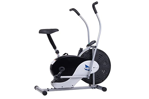 Body Rider Exercise Upright Fan Bike With Updated Softer Seat Stationary Fitness Adjule Brf700