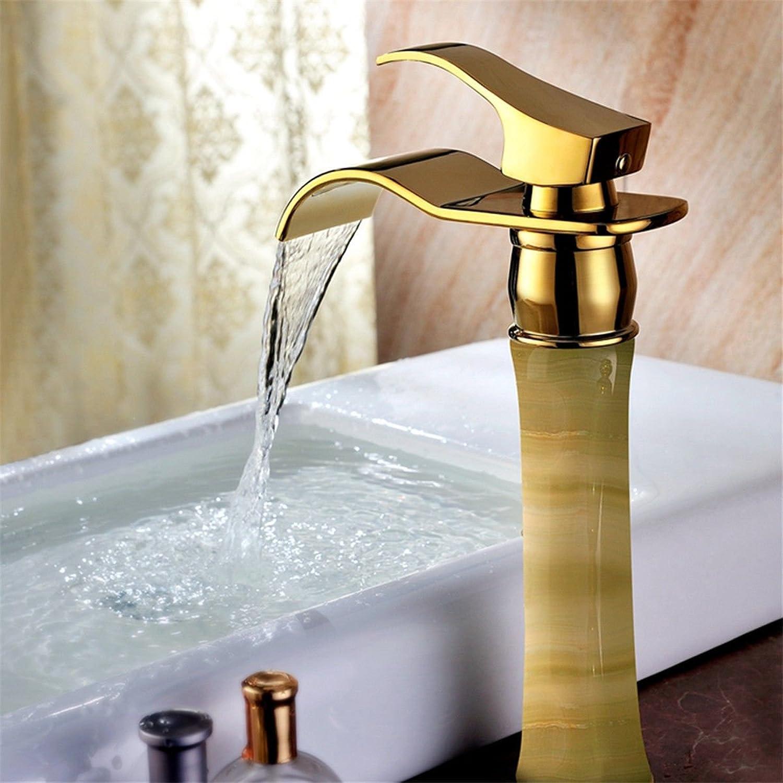 LHbox Europische Titan VerGoldet Einzelne Single Griffloch auf der Hohen Becken mit kaltem Wasser Badezimmer Waschtisch Waschbecken Waschtisch Armatur fllt
