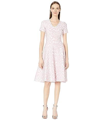 Zac Posen Knit Flower Dress (White/Pink) Women