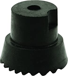 Prime-Line Products MP4557 Door Holder Tip, 1 in. x 3/4 in, Rubber, Black, Includes Fastener, Pack of 10,