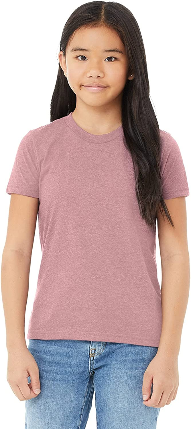 Bella Canvas - Youth Unisex Jersey Tee - 3001Y - S - Heather Orchid