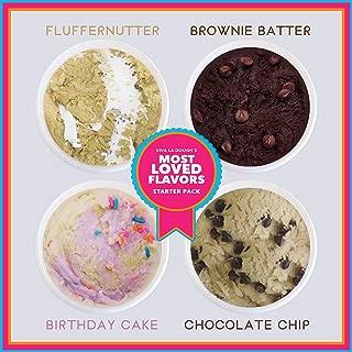 Viva La Dough Edible Cookie Dough - 100% Egg-Free - Best of: Starter Kit (4 Flavors - 4 Pack)