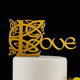 celtic knot wedding cake toppers