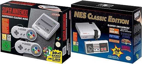 SNES and NES 任天堂 エンターテイメント システム クラシック バンドル リージョン フリー (リニュー)