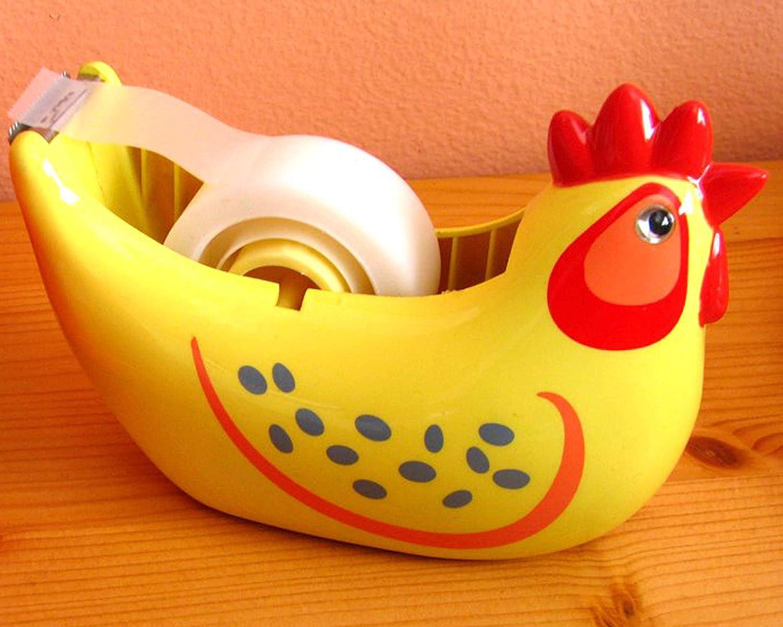 Chicken Max 51% OFF Tape Dispenser Glossy Yellow Award-winning store Detailed