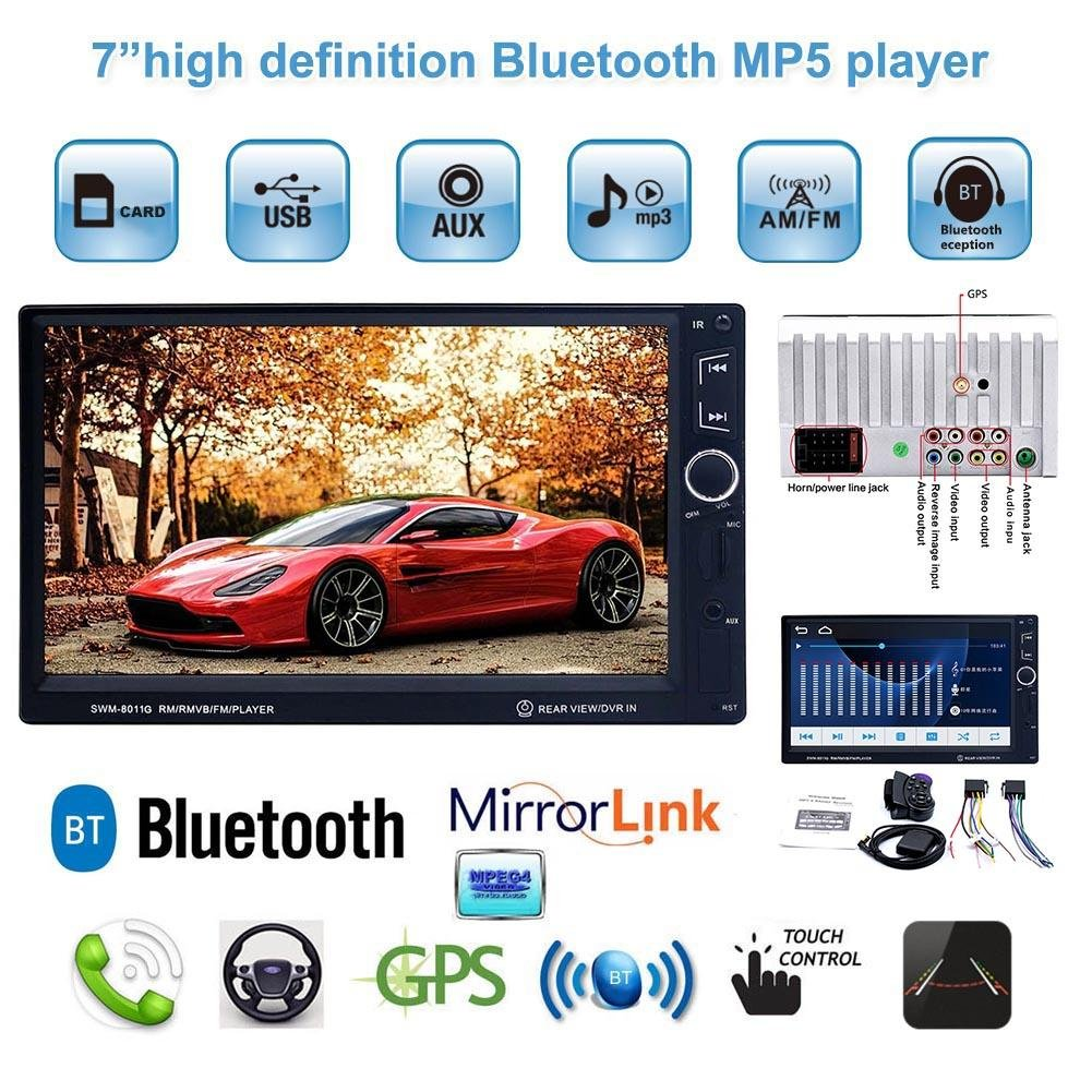 Reproductor MP5 SWM 8011G 7in HD IPS 2 Din Bluetooth In-dash Car MP5 Player GPS Navigator: Amazon.es: Electrónica