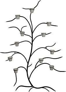 metal tree wall planter