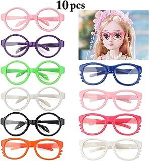 B bangcool 10 Pairs Doll Eyeglasses Fashion Dolls Glasses Costume Supplies for 18`` Dolls