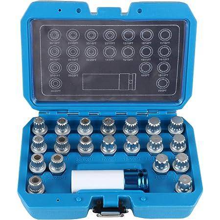 BELEY Kit de démontage de clé de verrouillage de roue pour BMW et Mini Series, écrous de verrouillage antivol de roue avec adaptateur de douille 12,7 mm