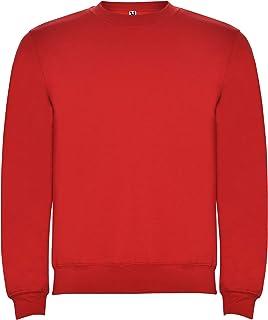 Roly Sudadera con cuello, puños y cinturilla de punto canalé 1x1 con elastano. Hombre. Rojo. Talla 3/4