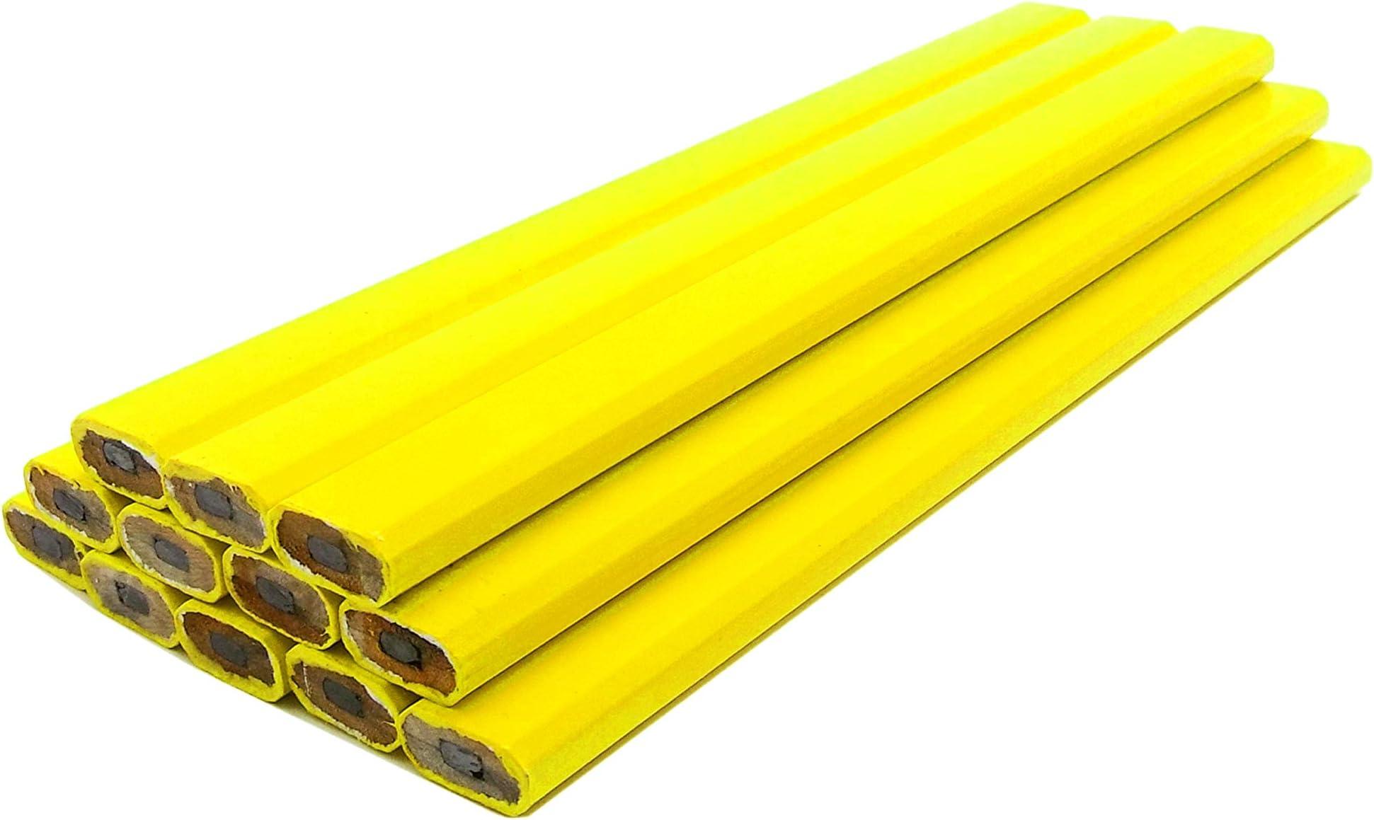 Impex Carpenter Pencils - 72pc Half Gross Set (Wholesale Bulk Lot of 72pcs) - Neon Yellow