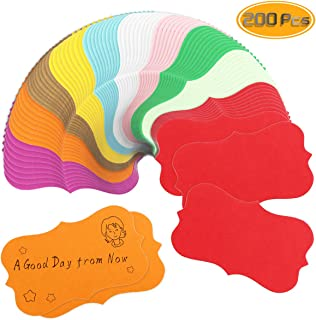 Nexxxi 200 Pieces Color Paper Business Cards, Blank Cardboard Paper Message Card(10 Colors)
