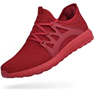 Men Sneakers Ultra Lightweight Gym Tennis Shoes Red 10.5 D(M) US