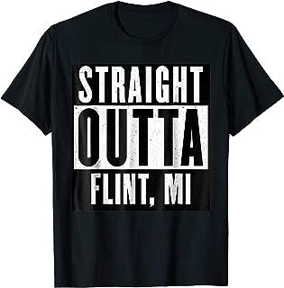 straight outta flint t shirt