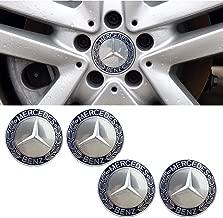99 Carpro Car Wheel Center Hub Caps for Mercedes Benz, 4PCS 75mm Auto Wheel Hub Caps Center Cover Fit for Mercedes-Benz (Dark Blue)
