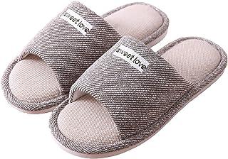 BaiMoJia Pantofole da Donna Ciabatte di Cotone Punta Aperta Antiscivolo Traspiranti Comoda Scarpe Casa Indoor