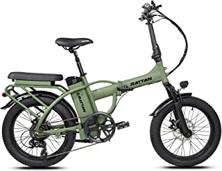 Rattan Bikes 500w Electric Bikes for Adults Folding Ebikes Men Women Ebikes Fat Tire Ebikes with Removable 13AH Lithium Ba...