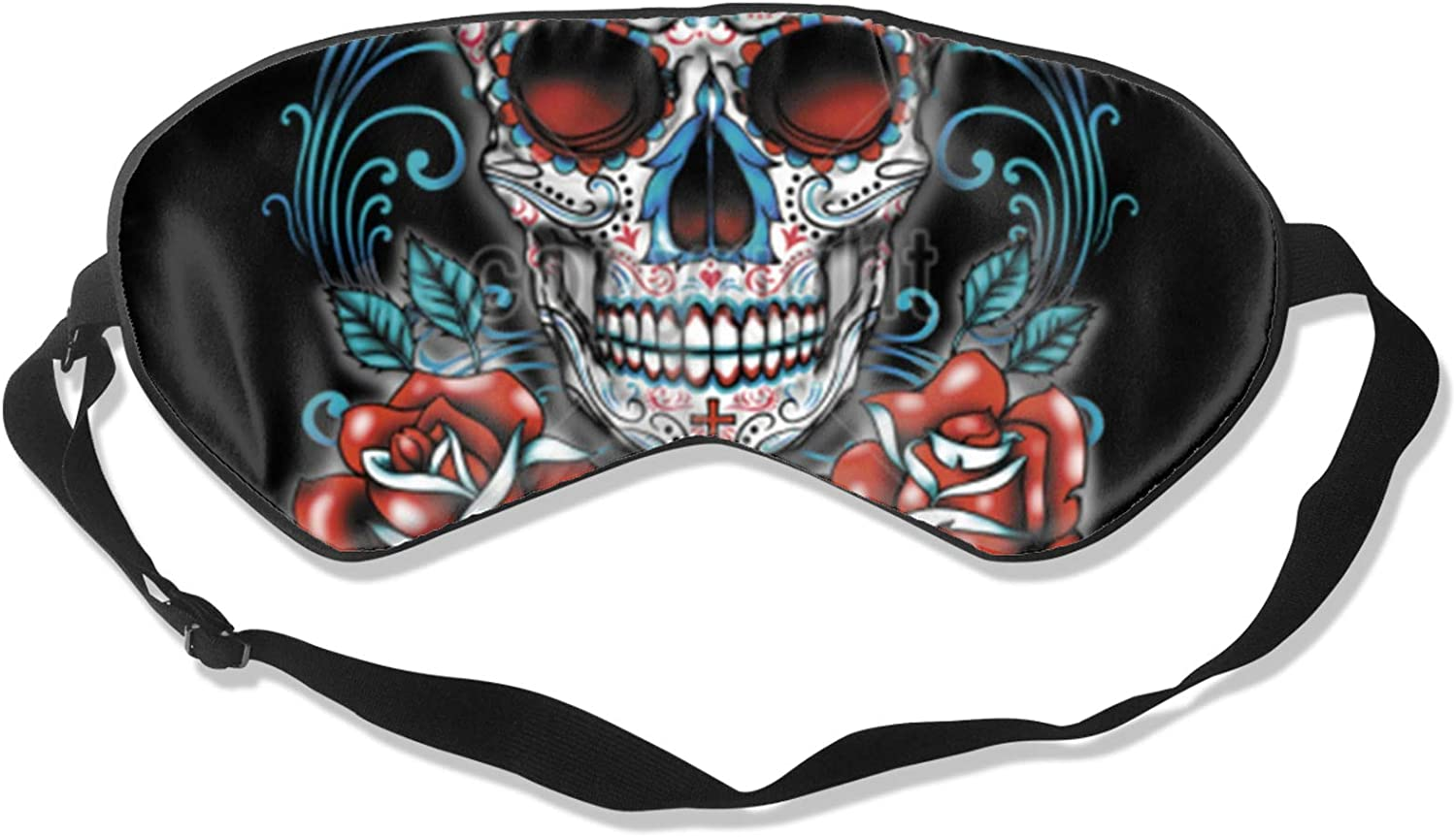 Max 53% OFF Sugar Skull Complete Free Shipping Blue with Red Roses Sleep Women Eye for Men So Mask