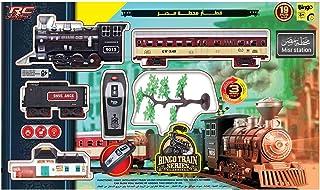 لعبة قطار بريموت كنترول مع اكسسوارات محطة مصر من بينجو - 19 قطعة