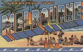 Melbourne, Florida - Large Letter Scenes (12x18 Art Print, Wall Decor Travel Poster)