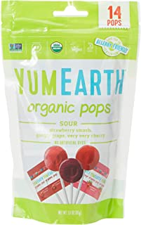 Yum Earth Organic Sour Pops 14 Pieces, 85 g
