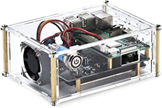 Acrylic Case with Cooling Fan for Raspberry Pi X820 V3.0 2.5