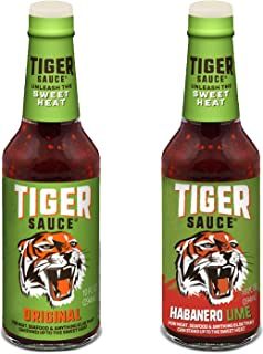 Tiger Sauce The Original and New Flavor Habanero Lime 10 oz Pack of 2 | Sweet and Sour, Not Too Hot | for Meat, Seafood, Poultry, Veggies