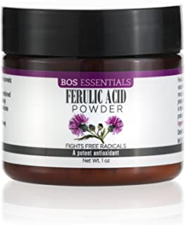 Pure Ferulic Acid Powder   A potent antioxidant and free radical destroyer   Stabilizes Vitamin C and protects cells from ...