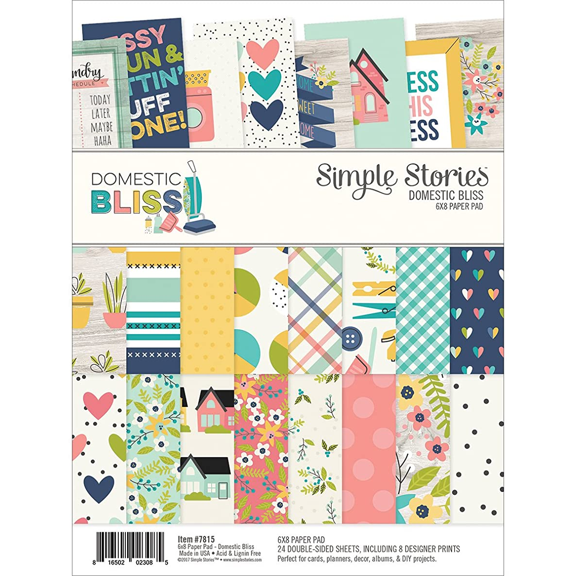 Simple Stories Domestic Bliss 6x8 Paper Pad