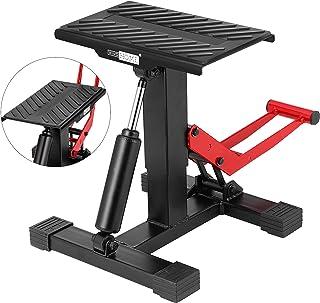 VIVOHOME 330 Lbs Motorcycle Lift Jack Dirt Bike Stand Height Adjustable Heavy Duty Repair Jack Hoist Stand Table Rack
