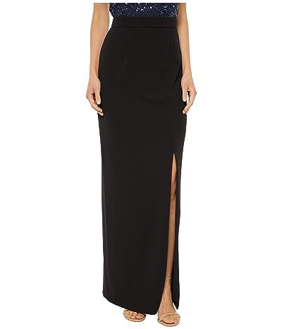 Adrianna Papell Crepe Column Skirt (Black) Women
