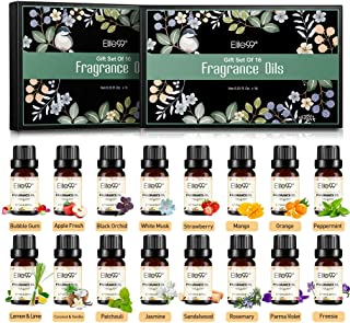 Elite99 Aceites de Fragancia Aceites Esenciales para Humidificadores Aceites de Aromaterapia de 16 Sabores de Flores y F...