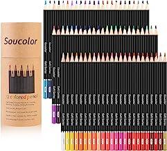 مداد رنگی مداد رنگی 72 عیار، نرم هسته، مداد نقاشی رنگ آمیزی برای کتاب رنگ آمیزی بزرگسالان، طرح، طرح های ساخت (72 رنگ)