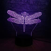 for Boys Dragonfly Insect 3D LED Lamp USB Changing Night Light   for Kids Desktop Decoration Creative Birthday or Holiday