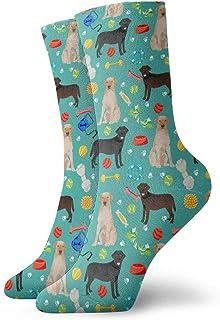 Nother, Labrador Retriever Dog - Calcetines cortos de algodón para adultos, color negro y amarillo