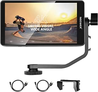 Neewer FW568 5.5-Inch Camera Field Monitor with 4K HDMI 8.4V DC Input Output Video Peaking Focus Assist with Swivel Arm fo...