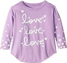 Super Soft Love Love Love Print Long Sleeve Tee (Toddler/Little Kids)