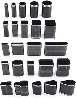 Yuhtech Kit Outils de Coupe Cuir Poinçon à Main, 24 Pcs Poinçon les Outils de Forage de Trous d'artisanat en Cuir Outils d...