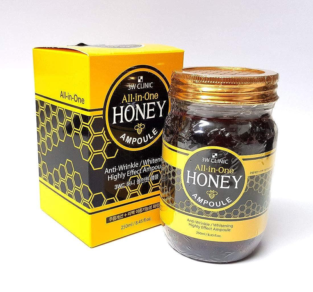 削除する見るアブストラクト[3W CLINIC] ハニーオールインワンアンプル250ml / Honey all-in-one ampoule 250ml / リンクルレメディ+ホワイトニング/Wrinkle Remedy + Whitening/韓国化粧品/Korean cosmetics [並行輸入品]